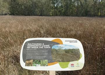Dawson River Wetlands Signage
