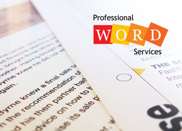 Professional Word Services
